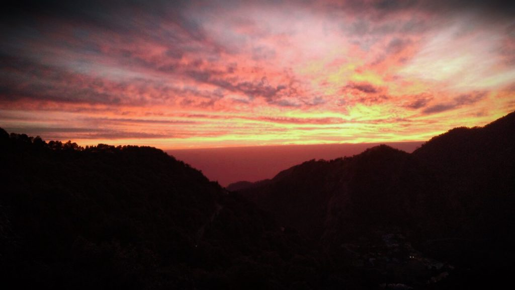 sunset in Nainital