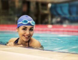 how can i protect my hair from swimming in chlorinated swimming pools